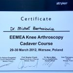 Artroskopia kolana szycie łękotek