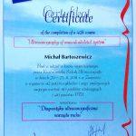 certyfikat diagnostyka ultrasonograficzna narządu ruchu - Roztoczańska Szkoła Ultrasonografii - kierownik naukowy dr Małgorzata Serafin Król