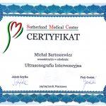 Certyfikat ukończenia szkolenia w zakresie ultrasonografii interwencyjnej.