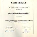 Certyfikowanego Instruktora Szkoleii Antydopingowych Komisji Medycznej PZPN stopnia zaawansowanego